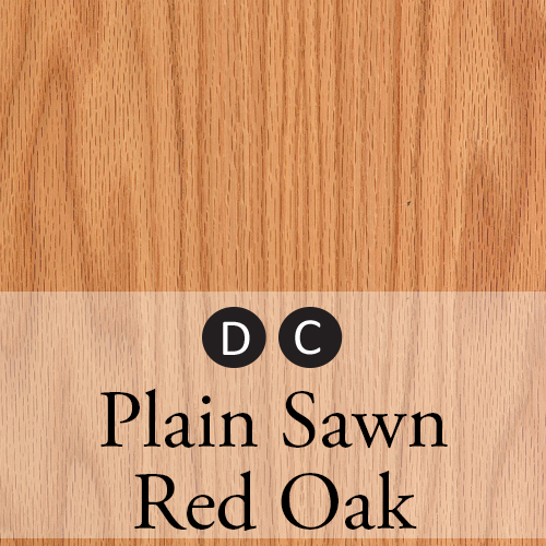 plain sawn red oak