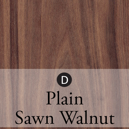 plain sawn walnut