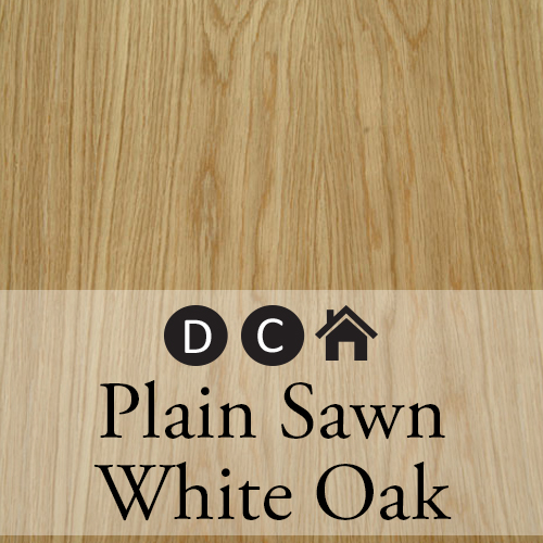 plain sawn white oak